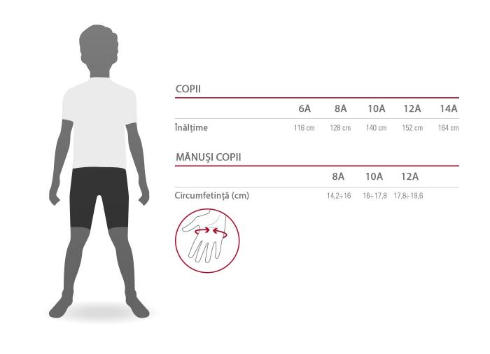 Tricou cu maneca scurta Castelli Campioncino, de copii, Rosu 12A [2]
