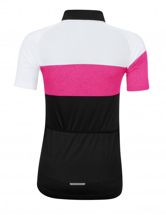 Tricou cu maneca scurta Force View, de dama, negru/alb/roz XS [1]