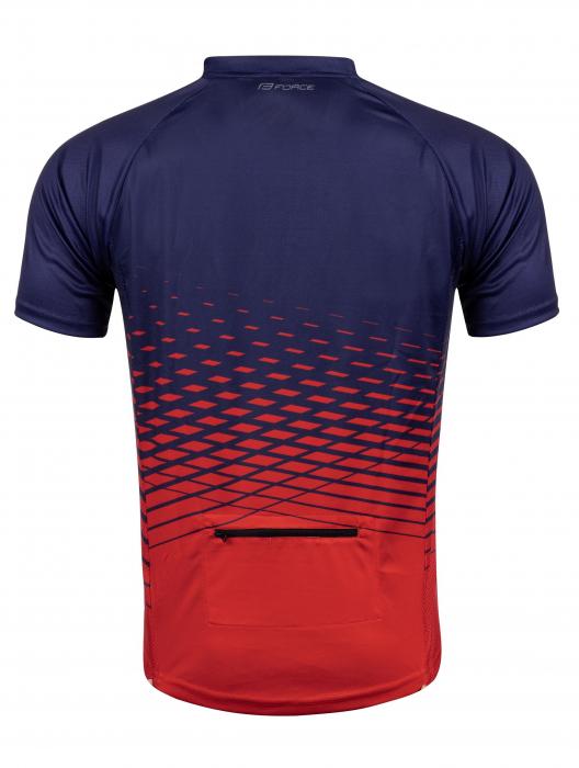 Tricou maneca scurta Force MTB Angle albastru/rosu L [1]
