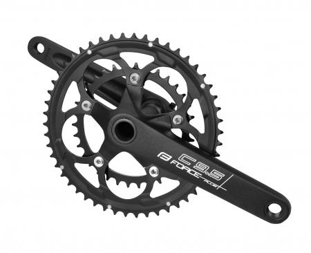 Angrenaj pedalier Force Road C9.5 AL 50/34T 175mm negru mat [0]