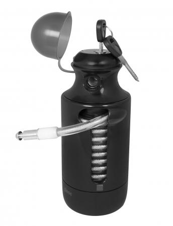 Antifurt Force Bottle Lock 150cm/7 mm negru [0]
