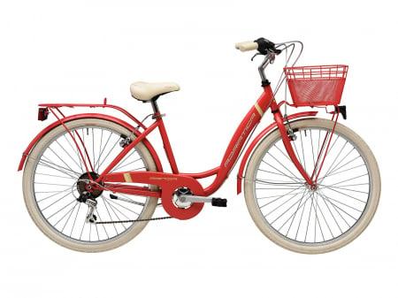 """Bicicleta Adriatica Panda 26"""" Lady 6V 42cm rosu mat [0]"""