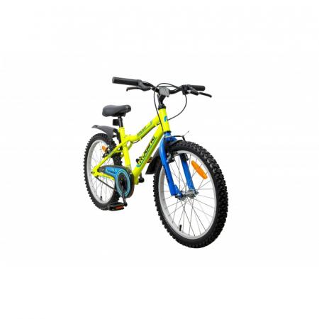 Bicicleta copii Robike Racer 20 galben neon/albastru [1]
