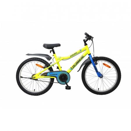 Bicicleta copii Robike Racer 20 galben neon/albastru [0]