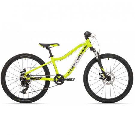 Bicicleta Rock Machine Storm 24'' MD Galben/Gri [0]