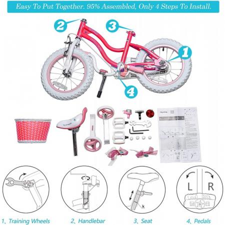 Bicicleta RoyalBaby Star Girl 12 Pink [3]