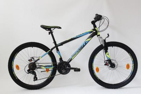 Bicicleta Sprint Active DD 26  2021  furca suspensie, black matt/blue 360mm [1]