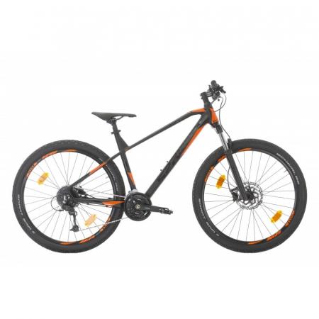 Bicicleta Sprint Apolon Pro 27.5' NegruMat/Portocaliu 2020 - 440 mm