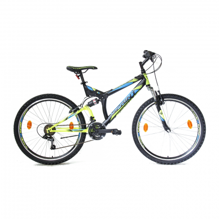 Bicicleta Sprint Element VB 26 2021 Negru/Verde Neon Mat 460 mm [0]