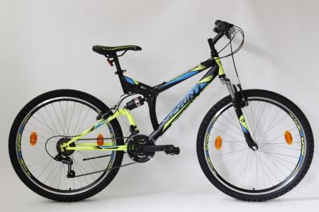 Bicicleta Sprint Element VB 26 2021 Negru/Verde Neon Mat 460 mm [1]
