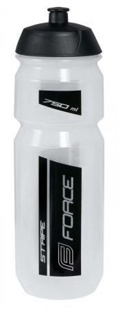 Bidon apa Force Stripe 0.75l transparent/negru [0]