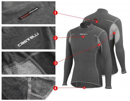 Bluza de corp cu maneca lunga Castelli Flanders Warm LS [2]