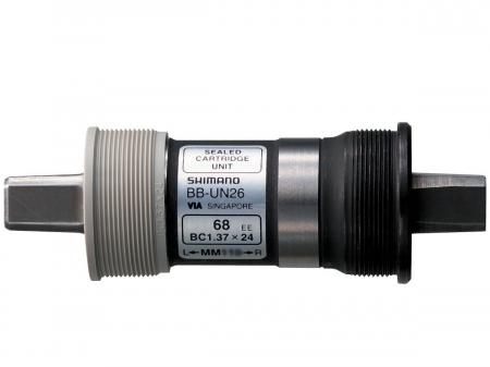 Butuc pedalier Shimano BB-UN26, ax patrat, filet Englezesc (BSA), fara suruburi, 68-110mm [1]