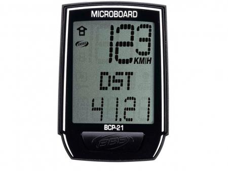 Ciclocomputer BBB BCP-21 MicroBoard cu fir 8 Functii Negru [2]