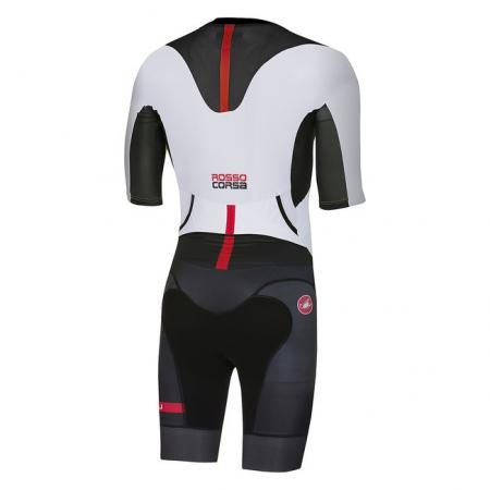 Costum de triatlon cu maneca scurta Castelli All Out Speed, Negru/Alb, M [1]