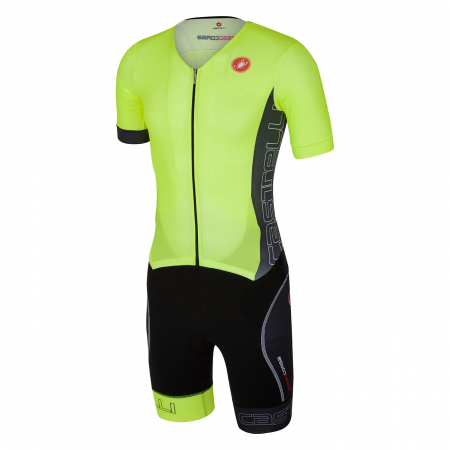 Costum de triatlon cu maneca scurta Castelli Free Sanremo SS, Verde/Negru [0]