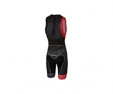 Costum Pt Triatlon Castelli Free Tri Itu Suit, Negru/Rosu, S [1]