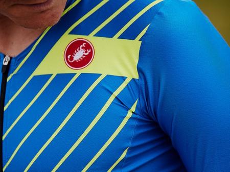 Costum Triatlon cu Maneca Scurta Castelli Free Sanremo SS Suit Negru/Rosu/Portocaliu XXXL [5]