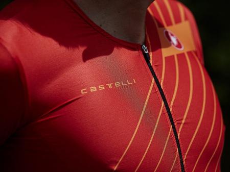 Costum Triatlon cu Maneca Scurta Castelli Free Sanremo SS Suit Negru/Rosu/Portocaliu XXXL [3]