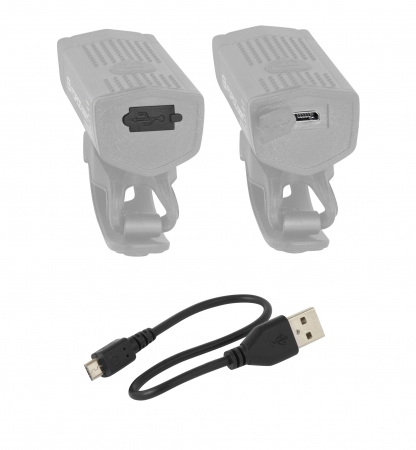Lumina fata Force DOT USB Negru [1]