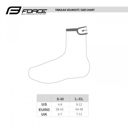Huse pantofi Force Lycra Fluo/Black L/XL [3]
