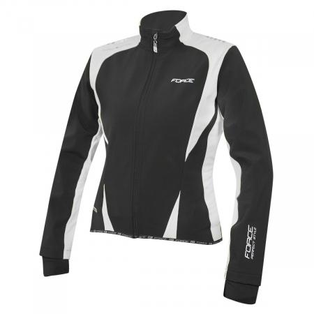 Jacheta Force X71 Lady softshell negru alb L [0]