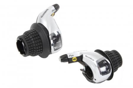 Manete schimbator Shimano Tourney SL-RS47, Revo-Shift, 3x8 viteze [2]