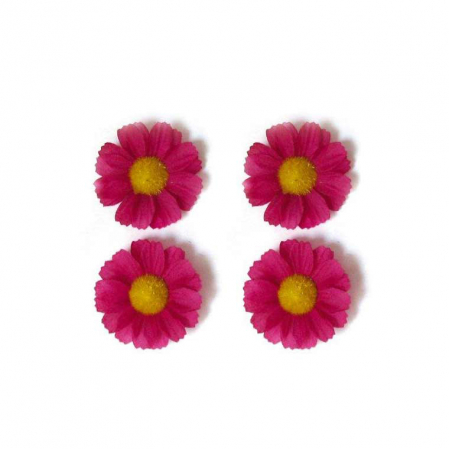 Ornament Cos Basil Daisies Flowers Set 4 Buc Magenta [0]