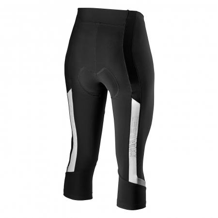 Pantaloni 3/4 Castelli Velocisima Knick de dama Negru/Alb/Gri S [0]