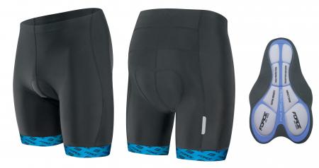 Pantaloni Force B20 cu insertie gel Negru/Albastru XXL [0]