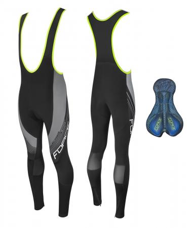 Pantaloni Force F58 cu bretele si bazon Negru-Gri XS [3]