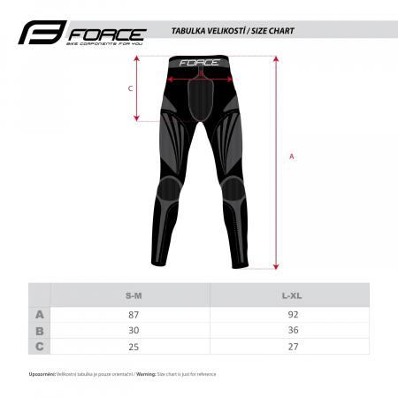 Pantaloni functionali Force Frost negri S-M [3]