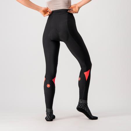 Pantaloni lungi Castelli Velocissima, de dama, Negru/Roz, S [3]
