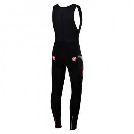 Pantaloni lungi cu bretele Castelli Polare 2, Negru [1]