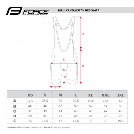 Pantaloni scurti cu bazon si bretele Force B38 XS [4]