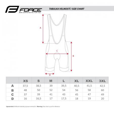Pantaloni scurti cu bazon si bretele Force B40 negru/fluo XXL [4]