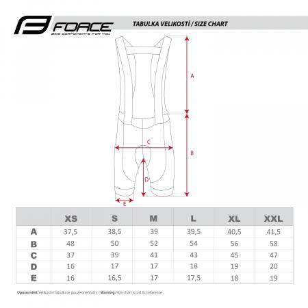 Pantaloni scurti cu bazon si bretele Force B45 negri S [3]