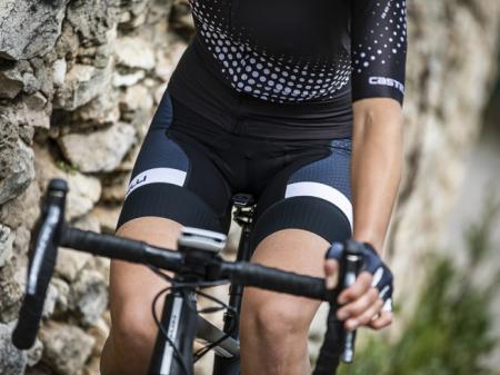 Pantaloni scurti cu bretele Castelli Free Aero Race 4W, de dama, Negru/Alb, S [2]