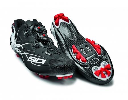 Pantofi MTB SIDI Tiger Carbon SRS, Negru/Alb, 43 [1]