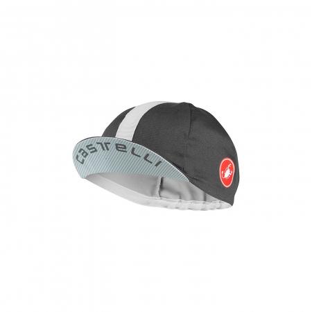 Sapca ciclism Castelli Espresso Cap Dark Gray/Silver Gray [0]
