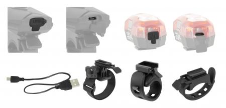 Set lumini Force Express USB, cu acumulator, fata/spate [3]
