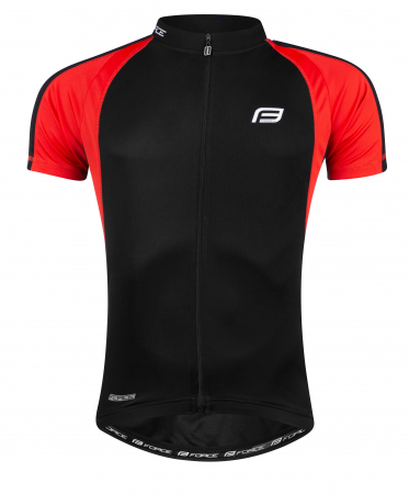 Tricou ciclism Force T10 negru/rosu XXL [0]
