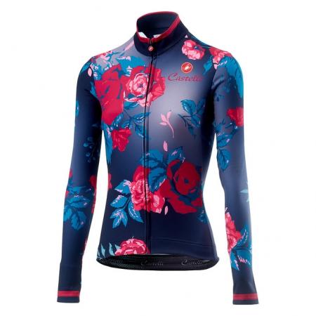 Tricou cu maneca lunga Castelli Scambio, de dama, Bleumarin/Mov floral, XS [0]