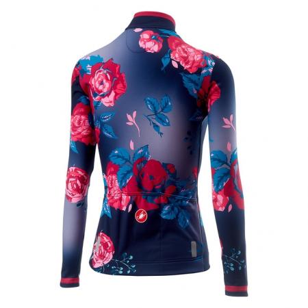 Tricou cu maneca lunga Castelli Scambio, de dama, Bleumarin/Mov floral, XS [1]
