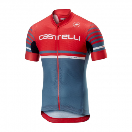 Tricou cu maneca scurta Castelli Aero Race 4.1, Rosu/Bleumarin, M [0]