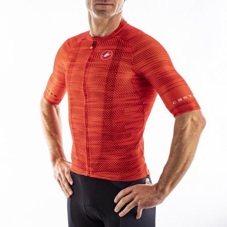 Tricou cu maneca scurta Castelli Climbers 3.0 Fiery Red S [3]