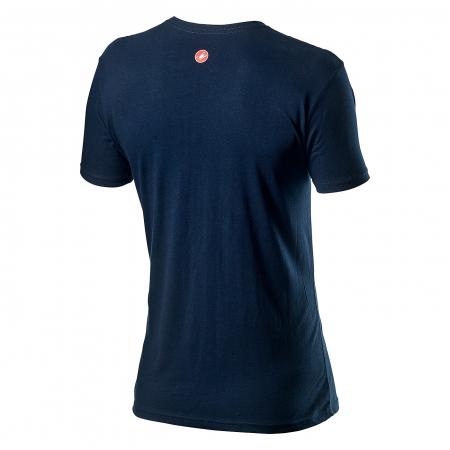 Tricou cu maneca scurta Castelli Logo Tee Albastru Inchis L [1]