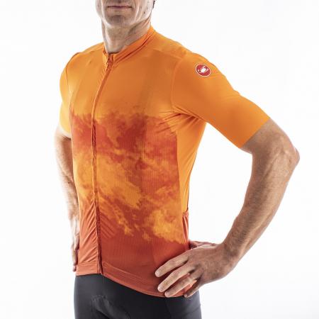 Tricou cu maneca scurta Castelli Polvere Orange S [3]