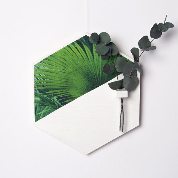 hexagon-alb-lemn-cu-plante-stabilizate 2