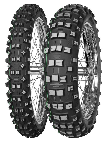 Anvelopa cross/enduro MITAS 90/100-21 TT 57R TERRA FORCE-EF SUPER LIGHT GREEN Fata 0